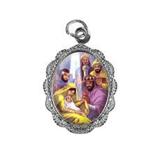 Imagem - Medalha de Alumínio - Três Reis Magos - Mod. 01 cód: 10162934-20