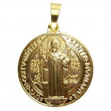 Imagem - Pingente de São Bento Folheado a Ouro cód: 10241146