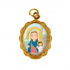 Imagem - Medalha de alumínio - Maria Passa na Frente Infantil cód: 514270991771
