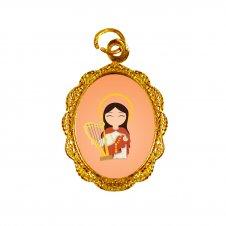 Imagem - Medalha de Alumínio Santa Cecília Infantil cód: MASCID2
