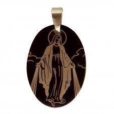 Imagem - Medalha Inox Preta de Nossa Senhora das Graças cód: 14095606