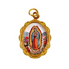 Medalha de Alumínio - Nossa Senhora da Guadalupe - Mod. 01 Dourado