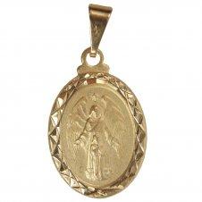 Imagem - Pingente Oval Anjo da Guarda Folheado a Ouro cód: 14100247