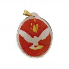 Imagem - Ref: MC-01-NSF   Ref: MC-01-JM   Medalha Oval de Cristal para Colar   Cor: Jesus Misericordioso   Cor: Nossa Senhora de  cód: MC-01-DES