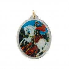 Imagem - Ref: MC-01-NSG2 | Medalha Oval de Cristal para Colar | Cor: Nossa Senhora das Graças cód: MC-01-SJ