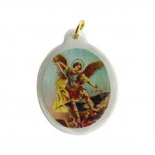 Imagem - Ref: MC-01-NSF   Ref: MC-01-JM   Medalha Oval de Cristal para Colar   Cor: Jesus Misericordioso   Cor: Nossa Senhora de  cód: MC-01-SM2
