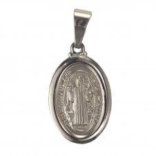 Imagem - Medalha Oval de Inox de São Bento cód: 12766886