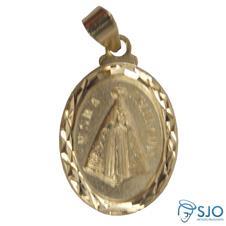 Imagem - Medalha Oval Nossa Senhora Aparecida Diamantada cód: 19075282