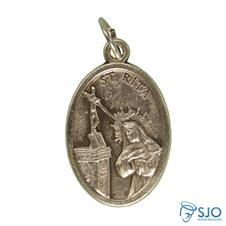 Imagem - Medalha Oval Santa Rita de Cássia cód: 14811880