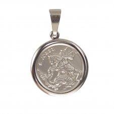 Imagem - Medalha Redonda de Inox de São Jorge cód: 19339196