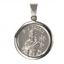 Imagem - Medalha Redonda de Inox de São Judas Tadeu cód: 13122774