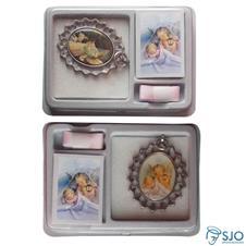 Imagem - Medalhão de Berço Anjo da Guarda com Foto cód: 16724772