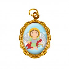 Imagem - Medalha de Alumínio São Miguel Arcanjo Infantil cód: MASMID