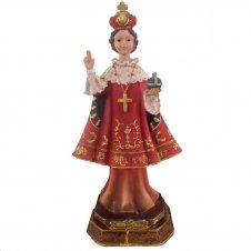 Imagem - Imagem de Resina Menino Jesus de Praga - 9 cm cód: NP2698B