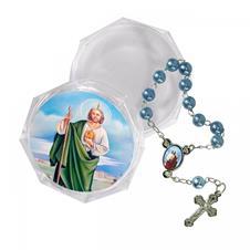 Imagem - Mini Terço com Embalagem São Judas cód: MTEISJ