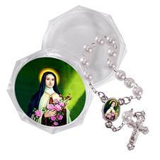 Imagem - Mini Terço com Embalagem Italiana Santa Terezinha - MTEIST