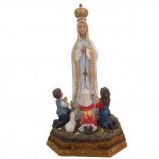 Imagem - Imagem de Resina Nossa Senhora de Fátima com pastores - 15 cm cód: NP2545/NP3209A