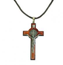 Imagem - Cordão com cruz de São Bento - 7 cm cód: 517-7