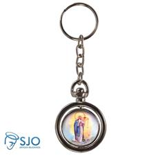 Imagem - Chaveiro Redondo Giratório - Nossa Senhora dos Navegantes cód: 19207932
