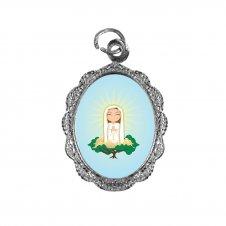 Imagem - Medalha de Alumínio Nossa Senhora de Fátima Infantil cód: MANSFIN
