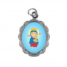 Imagem - Medalha de Alumínio Nossa Senhora do Perpétuo Socorro Infantil cód: MANSPSIN