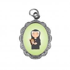Imagem - Medalha de Alumínio Santa Faustina Infantil cód: MASFIN