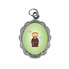 Imagem - Medalha de Alumínio São Francisco de Assis Infantil cód: MASFAIN