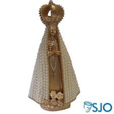 Imagem - Nossa Senhora Aparecida Dourada em Pérola - 30 cm cód: 17750374