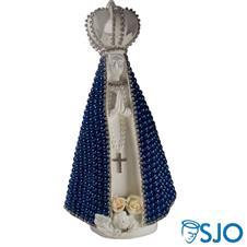 Imagem - Nossa Senhora Aparecida em Pérola Azul - 30 cm cód: 18460875
