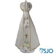 Imagem - Nossa Senhora Aparecida em Pérola Branca - 30 cm cód: 11518001