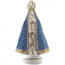 Imagem - Nossa Senhora Aparecida em Pérola Azul - 35 cm cód: 13047008