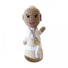 Imagem - Boneco de Crochê - Papa Francisco cód: BCPF