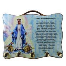 Imagem - Porta Chave Nossa Senhora das Graças - Mod. 2 cód: 74569874-8