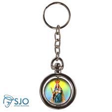 Imagem - Chaveiro Redondo Giratório - Nossa Senhora da Penha cód: 18833287
