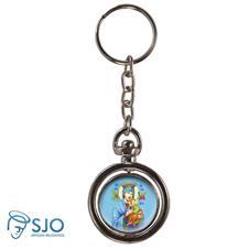 Imagem - Chaveiro Redondo Giratório - Nossa Senhora do Perpétuo Socorro cód: 18896841