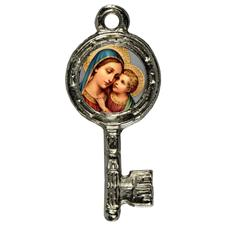 Imagem - Pingente Chavinha Nossa Senhora do Bom Conselho cód: 15947828-8