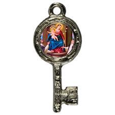 Imagem - Pingente Chavinha Nossa Senhora do Rosário cód: 15947831-7