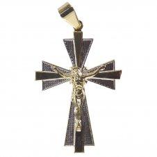 Imagem - Pingente Crucifixo Folheado a Ouro com Ródio cód: 19014255