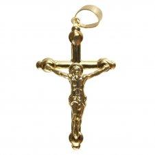 Imagem - Pingente de Crucifixo Folheado a Ouro - 5 cm cód: 19049010