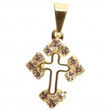 Imagem - Pingente de Crucifixo Vazado com Strass cód: 18564270