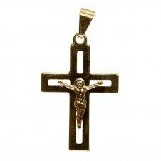 Imagem - Pingente de Crucifixo Vazado Folheado a Ouro cód: 11581135