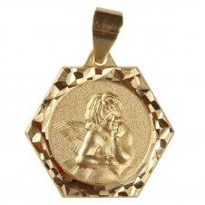 Imagem - Pingente de Anjo da Guarda Folheado a Ouro cód: 15780662