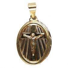 Imagem - Pingente de Cristo Folheado a Ouro com Inox cód: 14091309