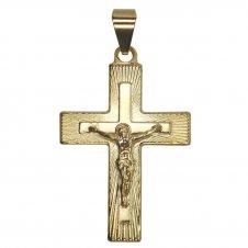 Imagem - Pingente de Crucifixo Folheado a Ouro cód: 15376288