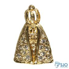 Pingente de Nossa Senhora Aparecida com Pedras
