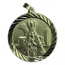Imagem - Pingente de Nossa Senhora Aparecida com Basílica Folheado a Ouro - 12185792