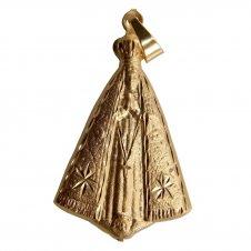 Imagem - Pingente de Nossa Senhora Aparecida Folheado a Ouro cód: 14387694