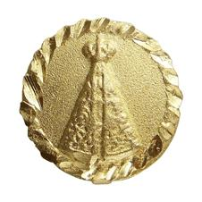 Pingente de Nossa Senhora Aparecida Folheado a Ouro Mini