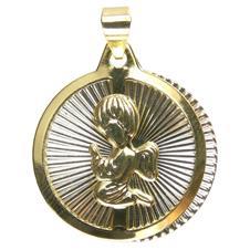 Pingente do Anjo da Guarda Folheado a Ouro