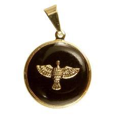 Imagem - Pingente do Divino Espirito Santo Folheado a Ouro Resinado cód: 12714735